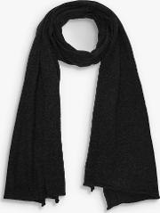 Self Rolled Edge Wool And Cashmere Scarf
