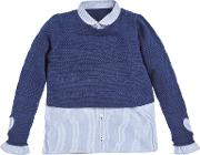 Angel & Rocket Girls' Ruby 2 In 1 Shirt Jumper