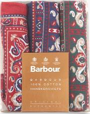 Boxed Paisley Handkerchiefs, Pack Of 3