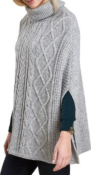 Court Cable Knit Poncho