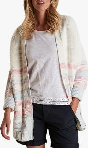 Seaward Stripe Shawl Collar Cardigan