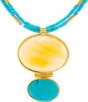 Be Jewelled Amber And Turquoise Statement Necklace