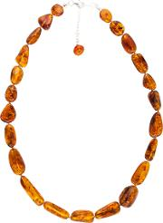 Be Jewelled Amber Necklace Sterling Silver Clasp