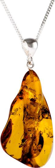 Be Jewelled Amber Wave Pendant Necklace