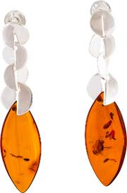 Be Jewelled Cognac Amber Decorative Drop Earrings