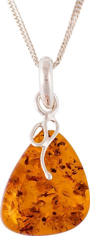 Be Jewelled Sterling Silver Amber Pendant
