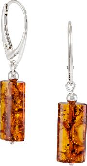 Be Jewelled Tubular Amber Drop Earrings