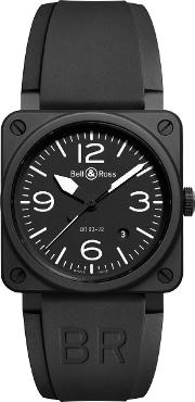 Br0392 Bl Ce Men's Rubber Strap Watch