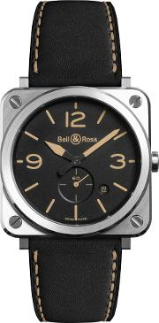 Brs Heri Stsca Unisex Brs Heritage Date Leather Strap Watch