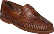 Bryant Park Woven Leather Moccasins