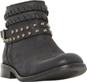 Parader Studded Strap Ankle Boots