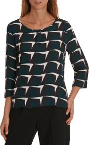 Betty & Co Graphic Print Blouse