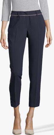Crepe Piped Trousers