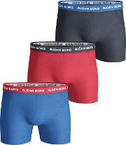 Bjorn Borg Noos Contrast Waistband Trunks, Pack Of 3