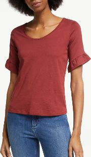 Frilled Cuff T Shirt