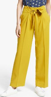 Ketton Wide Leg Belted Trousers