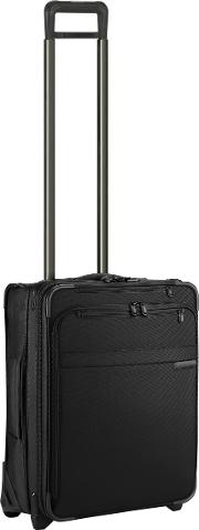 Baseline International Carry On Expandable Wide Body 2 Wheel Upright Cabin Suitcase