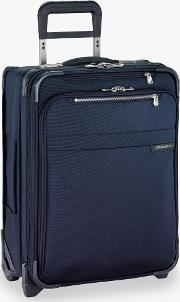 Baseline International Carry On Expandable Wide Body Spinner Cabin Suitcase