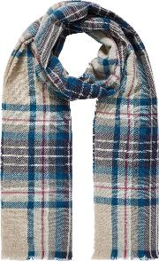 Cashmere Knit Plaid Stole