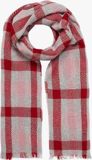 Cashmere Plaid Block Stole Scarf