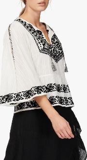 Embroidered Angel Blouse