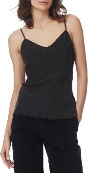 Embroidered Silk Cami