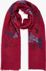 Embroidered Wool Stole