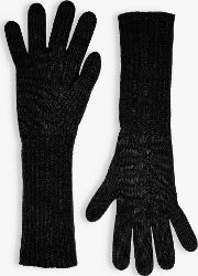 Pointelle Cashmere Gloves