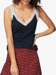 Ribbed Lace Cami Top