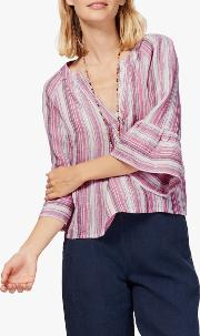 Stripe Linen Blouse
