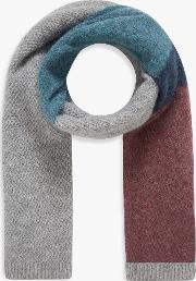 Wool Blend Colour Block Scarf
