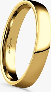 9ct Yellow Gold 3mm Domed Court Shape Wedding Ring