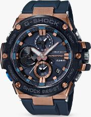 Gst B100g 2aer Men's G Shock G Steel Chronograph Connected Resin Strap Watch