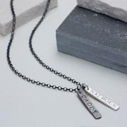 Personalised Men's Double Tag Necklace