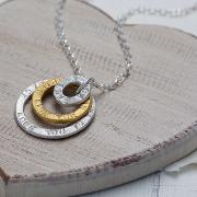 Personalised Triple Halo Necklace