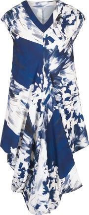 Abstract Block Floral Dress