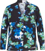 Abstract Floral Print Shrug