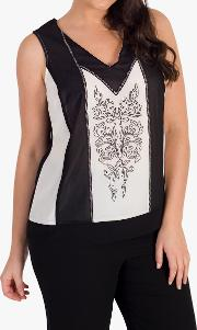 Contrast Embroidered Camisole