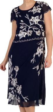 Embroidered Lily Layer Dress
