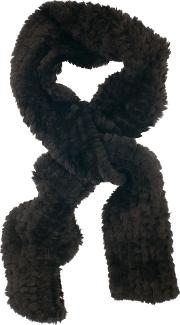 Faux Fur Knitted Scarf