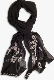 Lily Bead Embroidered Chiffon Stole