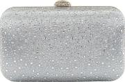 Satin Diamante Box Clutch Bag