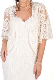 Scallop Sleeve Lace Shrug