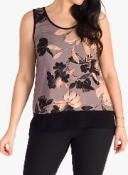 Slinky Floral Jersey Cami Top