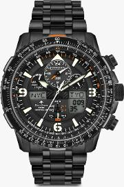 Jy8075 51e Men's Promaster Skyhawk At Chronograph Eco Drive Bracelet Strap Watch