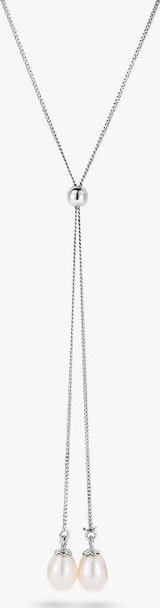 Freshwater Pearl Drop Lariat Necklace