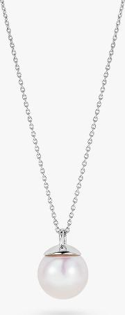 Long Freshwater Pearl Pendant Necklace