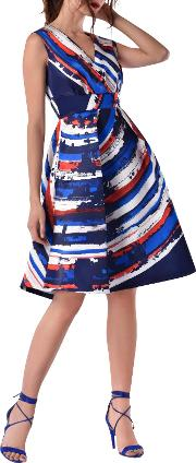 Full Skirt Printed Dress