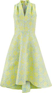 Jacquard High Low Dress, Multigold