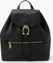 Evie Pebble Leather Backpack